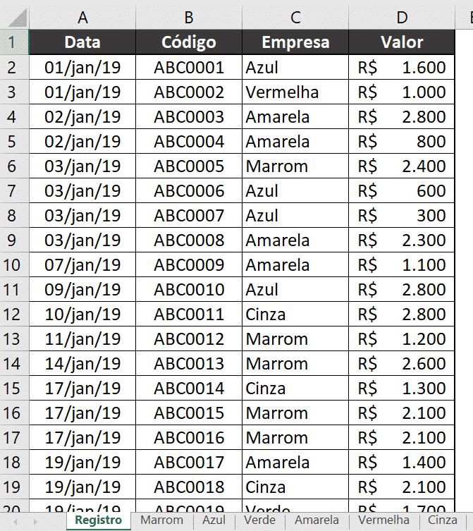 Barra de Progresso Excel
