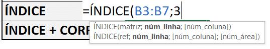 Fórmula ÍNDICE