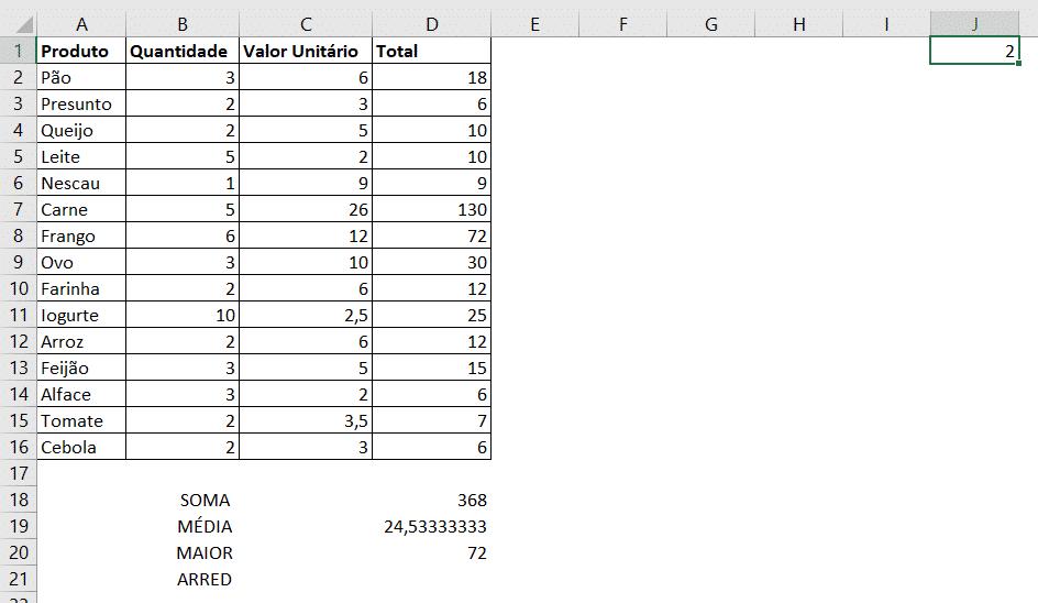 Fórmulas Básicas - MAIOR