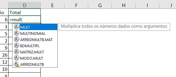 Fórmulas Básicas - MULT