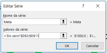 Inserindo dados nos gráficos no Excel