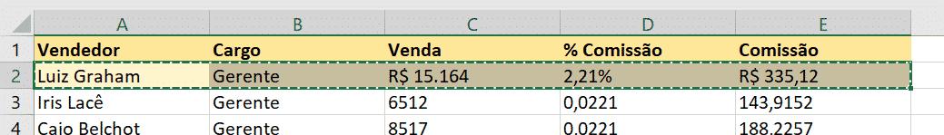 Utilizando a opção do pincel de formatação com atalhos