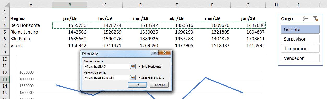 Janela para seleção dos dados