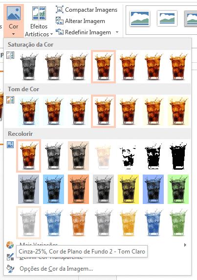 Modificando a cor da cópia da imagem