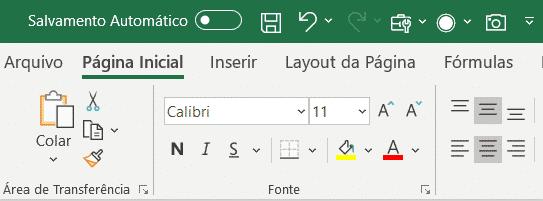 Verificando a ferramenta no menu de acesso rápido do Excel