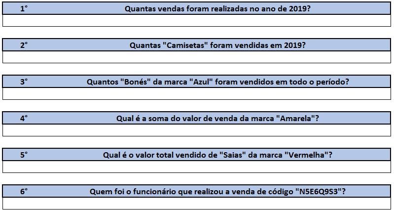 Questões de 1 a 6