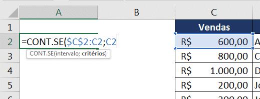 CONT.SE para auxiliar no PROCV com dados repetidos