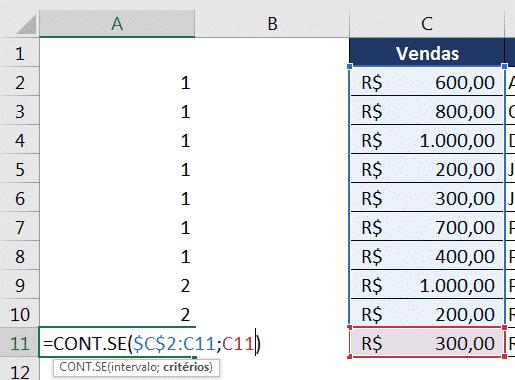 Verificando a última fórmula da sequência para se certificar de que está correta