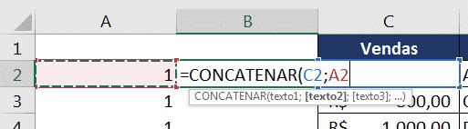 CONCATENAR para auxiliar no PROCV com dados repetidos