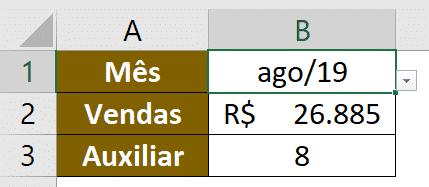 Resultado da fórmula SOMA com DESLOC