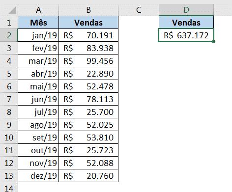 Resultado da remoção das linhas de grade - Erros Comuns no Excel