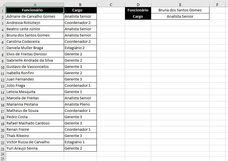 Removendo as células mescladas (espaços em branco)