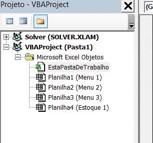 Selecionando a pasta de trabalho para inserir o código em VBA