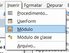 Criando um módulo dentro do ambiente VBA para nossa Planilha Excel