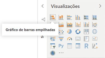 Criação do gráfico de barras empilhadas - Curso de Power BI