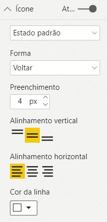 Alterando a cor da linha do novo botão - Hiperlink no Power BI