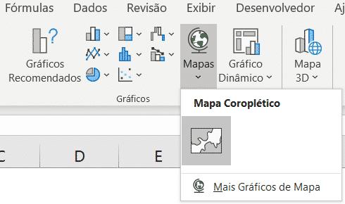 Opção de Gráfico de Mapas