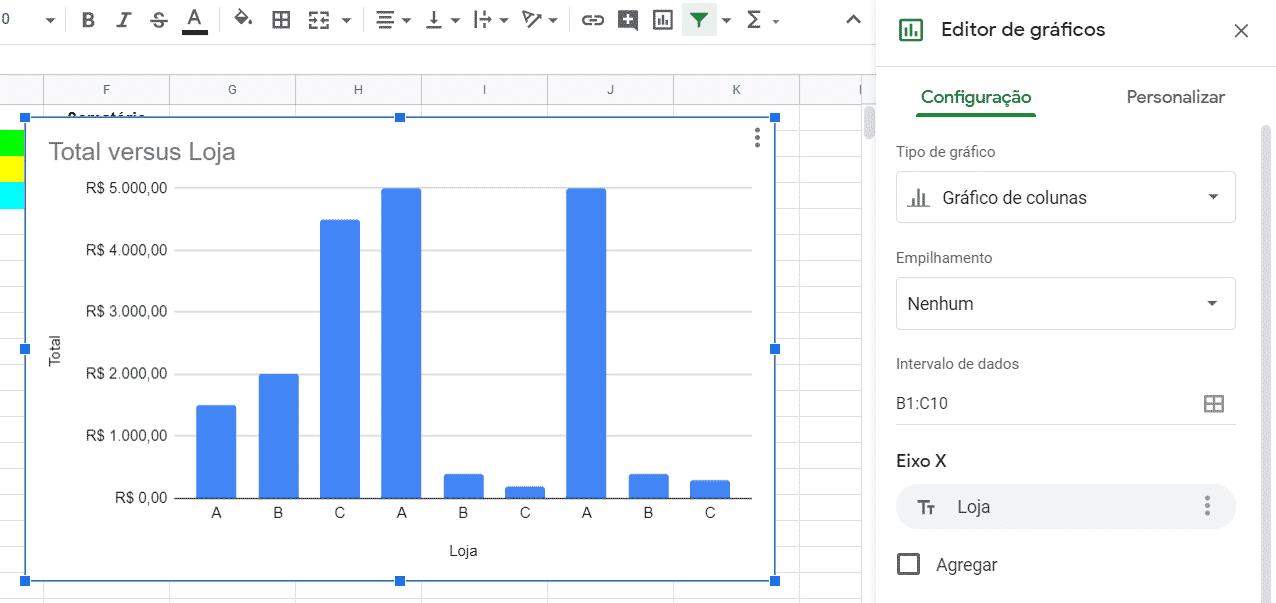 Inserindo um gráfico