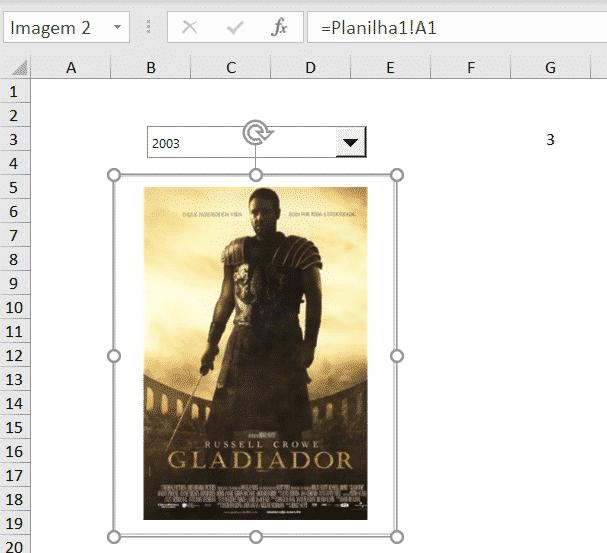 Inserindo uma imagem de uma célula utilizando a ferramenta Câmera - Lista de Imagens no Excel
