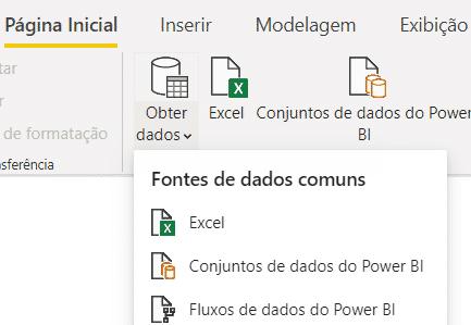 Opção para importar arquivos