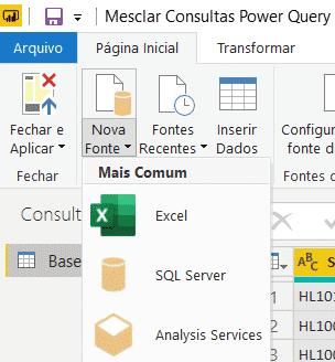Importanto arquivo dentro do Power Query