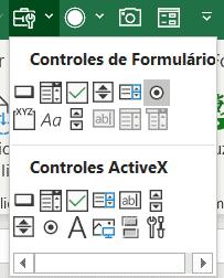 Caixa de controles de formulário - Dashboard em Excel