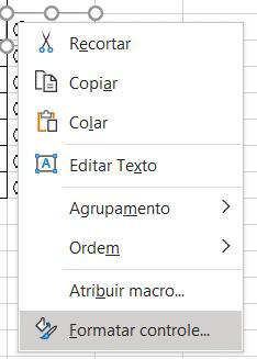 Opção para formatar o botão
