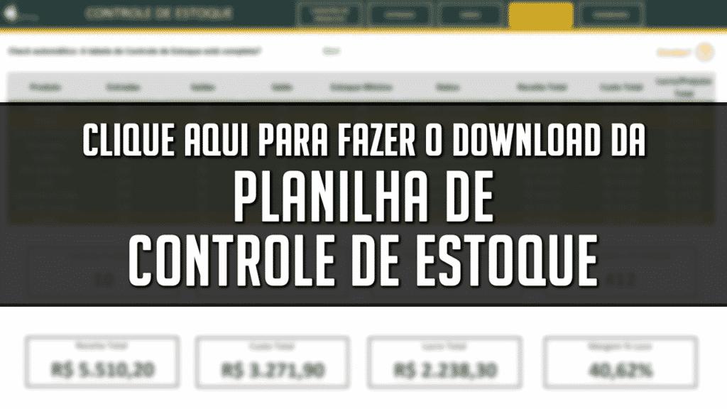 Planilha de Controle de Estoque Download
