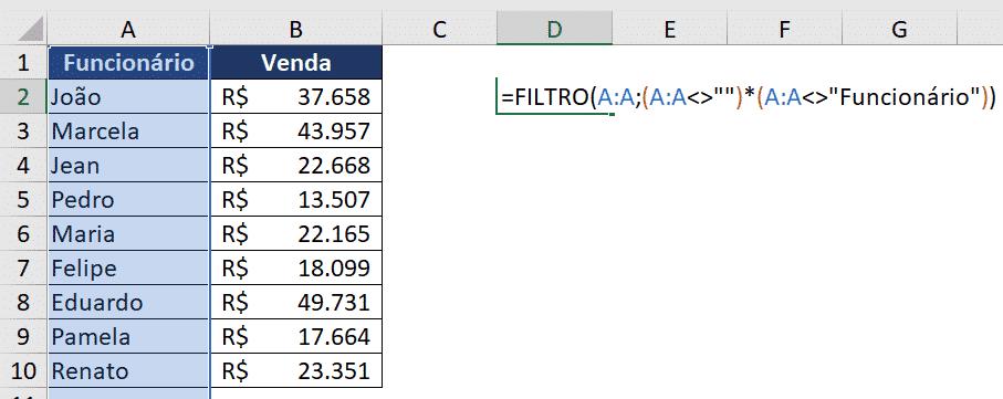Fórmula FILTRO - Gráfico Automático no Excel