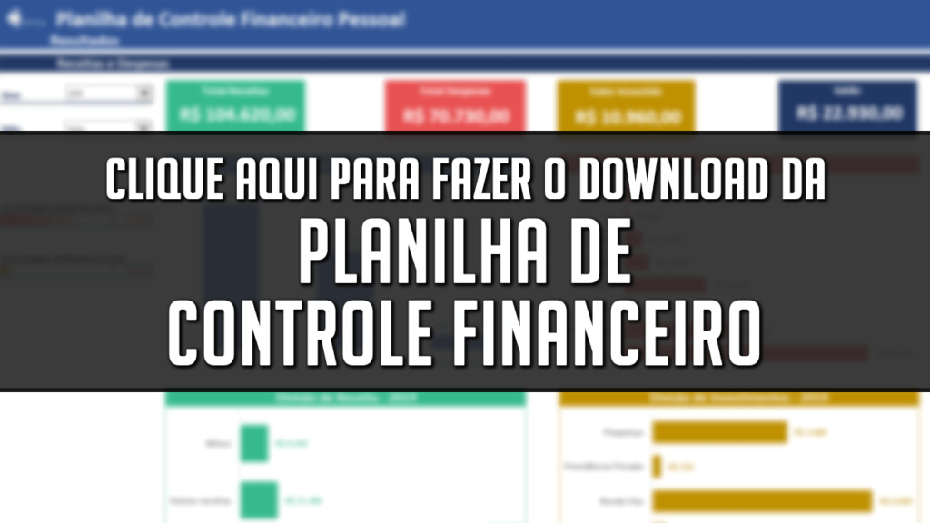 Planilha de Controle Financeiro no Excel