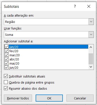 Configurando a ferramenta - Somar no Excel
