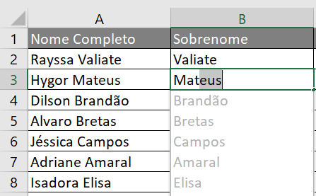 Lista de preenchimento relâmpago - Dicas de Excel