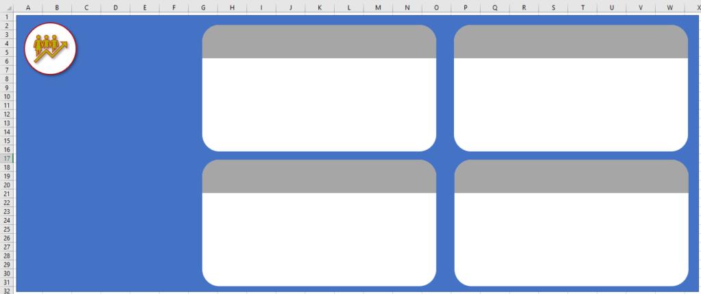 Replicando as formas - Planilha com Cara de Site