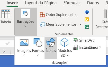 Opção de ícones
