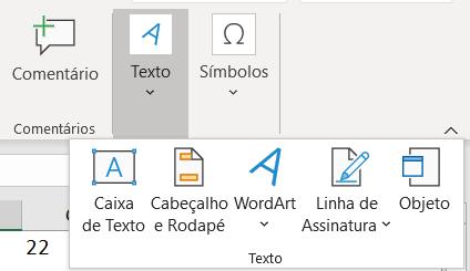 Inserindo caixa de texto - Planilha em Excel Profissional