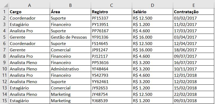 Base de dados (exemplo)