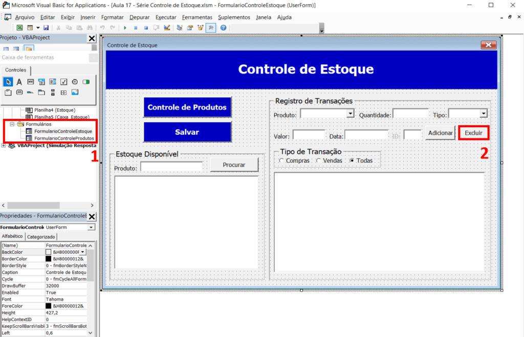 Controle De Estoque Excel