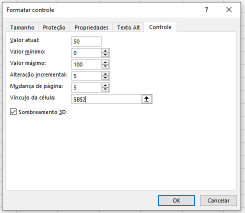 Configurando o controle