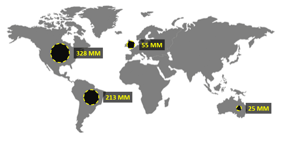 Gráfico de mapa concluído