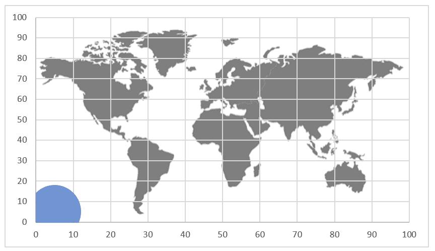 Gráfico de mapa em versões antigas