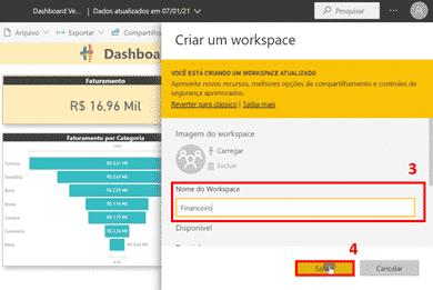 Compartilhar Dashboard