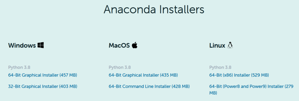 Como Instalar o Pacote Anaconda