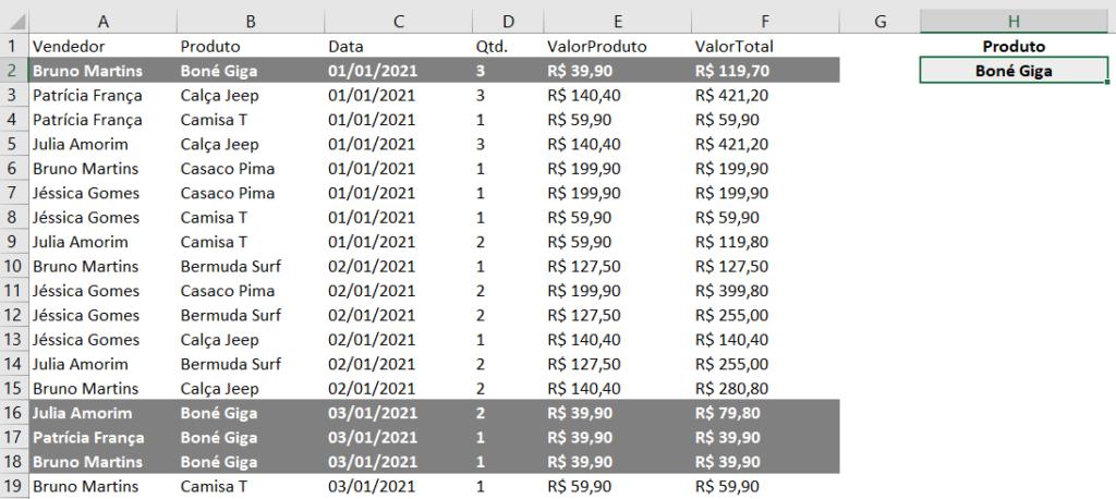 Alterando o produto para verificar a atualização da validação de dados de forma automática