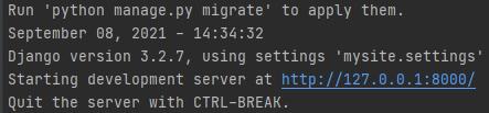 Resultados ao rodar o servidor
