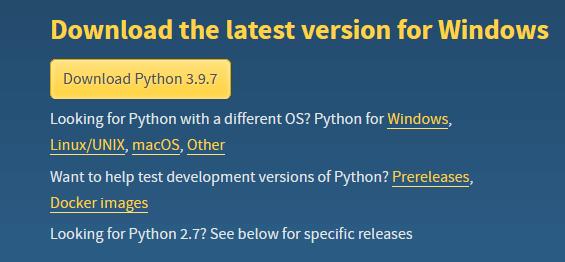 Site para download do Python