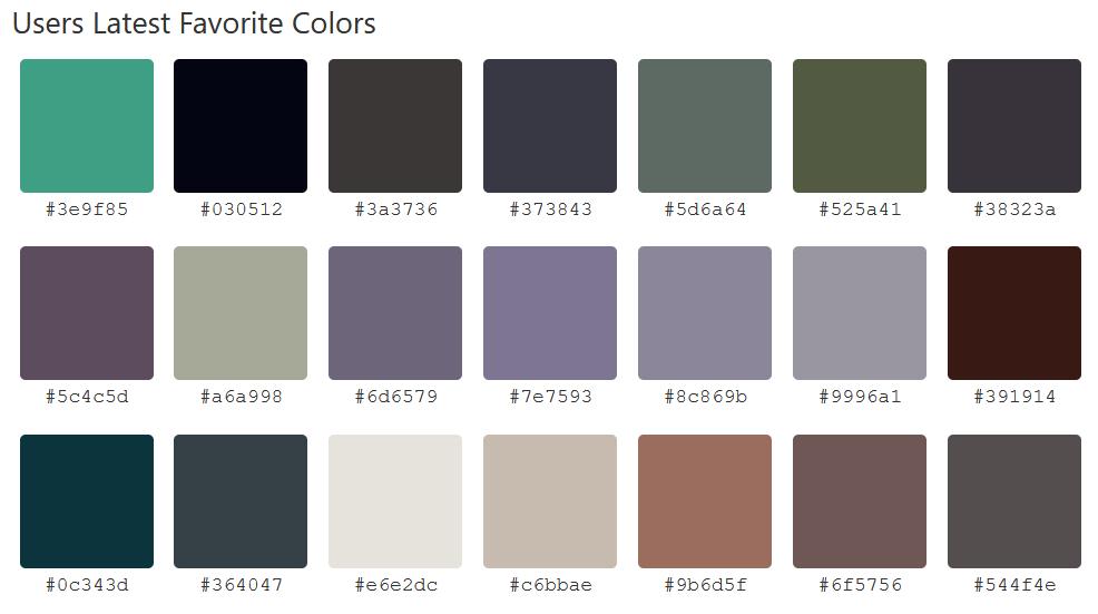 Site para obtenção de cores